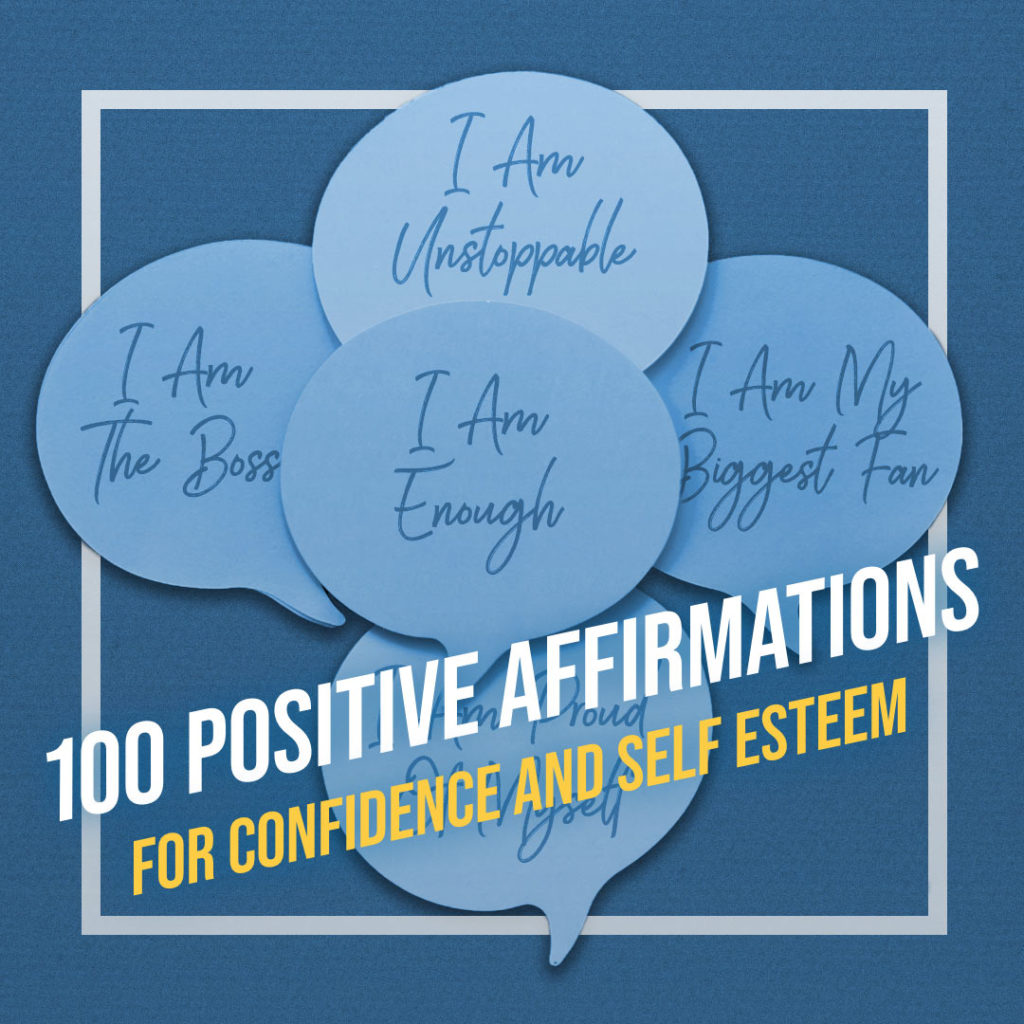 sticky notes with affirmations
